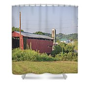 Palos Covered Bridge Shower Curtain