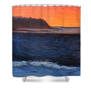 Palos Verdes Sunset Shower Curtain