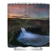Palouse Falls Sunrise Shower Curtain