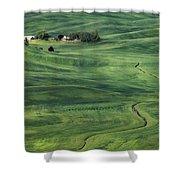 Palouse Green Fields Shower Curtain