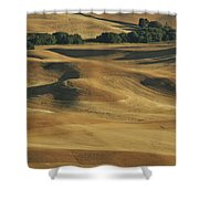 Palouse Patchwork By Jean Noren Shower Curtain