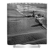 Palouse - Washington - Farms - 6 - Bw Shower Curtain
