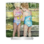 Pals Share Shower Curtain