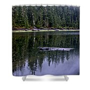 Pamelia Lake Reflection Shower Curtain