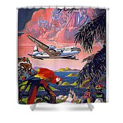 Pan American   Shower Curtain