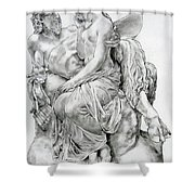 Pan Comforting Psyche Shower Curtain