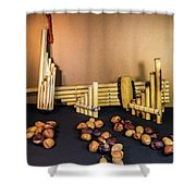 Pan Flutes And Buckeyes Shower Curtain