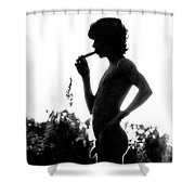 Pan In The Brush Shower Curtain