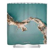 Panama 3d Render Topographic Map Neutral Border Digital Art By Frank