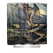 Panama Canal Cartoon, 1904 Shower Curtain