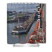 Panama Canal Shower Curtain