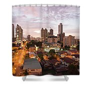 Panama City At Night Shower Curtain