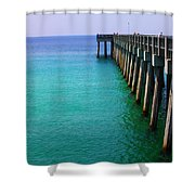 Panama City Beach Pier Shower Curtain