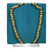 Panama: Gold Beads, C1000 Shower Curtain