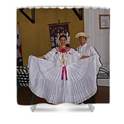 Panama Greetings Shower Curtain