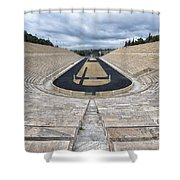 Panathenaic Stadium In Athens, Greece Shower Curtain