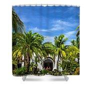 Panchos Backyard  Shower Curtain