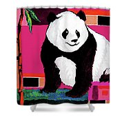 Panda Abstrack Color Vision  Shower Curtain