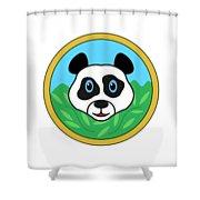 Panda Bear Head Shower Curtain