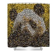 Panda Coin Mosaic Shower Curtain