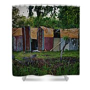Panel House Shower Curtain