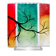 Panel Painting Shower Curtain
