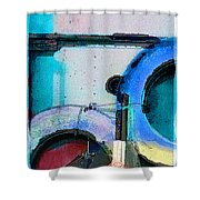 panel three from Centrifuge Shower Curtain