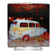 Panel Truck  Shower Curtain