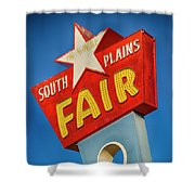 Panhandle South Plains Fair Sign Shower Curtain