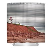 Panmure Island Lighthouse Shower Curtain