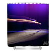 Panned Movement Shower Curtain