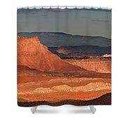 Panorama Dawn Light On The San Rafael Swell Utah Shower Curtain