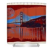 Panorama Golden Gate Bridge Landmark 2 Shower Curtain