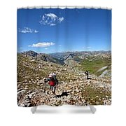 Panorama Looking Down Elk Creek From The Continental Divide - Weminuche Wilderness Shower Curtain