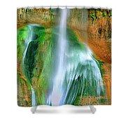 Panorama Lower Calf Creek Falls Escalante Nm Utah Shower Curtain