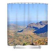 Panorama Mountain View Shower Curtain