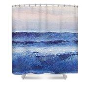 Panorama Ocean Painting Shower Curtain