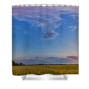 Panorama Of A Colorful Sunset Shower Curtain