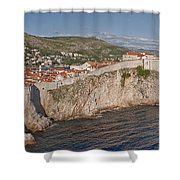 Panorama Of Dubrovnik, Croatia, In The Afternoon Shower Curtain