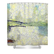 Panorama Of Landscape Shower Curtain