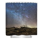 Panorama Of Milky Way And Zodiacal Shower Curtain