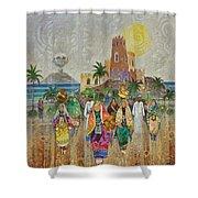Panorama Of Oman Shower Curtain