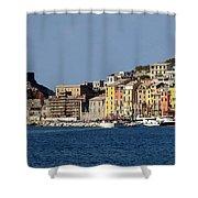 Panorama Of Portovenere Shower Curtain