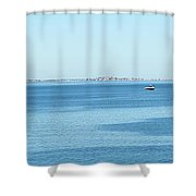 Panorama Of Quincy Bay Shower Curtain