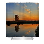 Panorama Of Sunset Shower Curtain