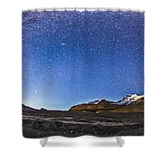 Panorama Of The Columbia Icefields Shower Curtain