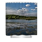 Panorama Of The Lake In Elkino Shower Curtain