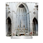 Panorama Of The Main Altar Of St. John The Evangalist Roman Catholic Church Schenectady Shower Curtain