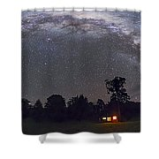 Panorama Of The Southern Night Sky Shower Curtain