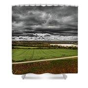 Panorama Of Wakefield's Fields Shower Curtain